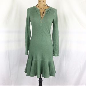 Lauren Jeans Co. Henley Style Fit & Flare Dress